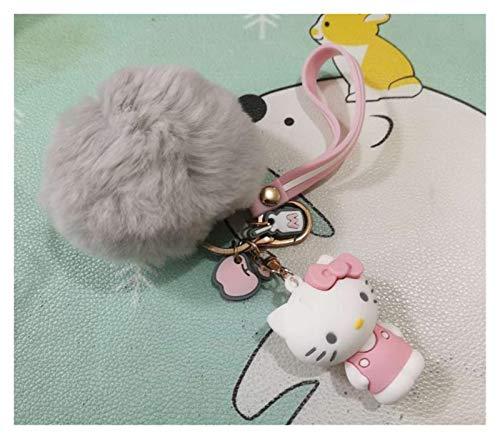 Qsdxlsd Llavero 1pc Lindo Anime My Melody Pudding Perro Piel Bola Muñeca Peluche Toys Bolsa Colgante para Girls Regalo decoración (Color : 2)