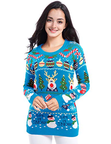 Colorful Reindeer Ugly Christmas Sweater