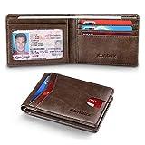 slim bifold front pocket wallets for men,smart minimalist leather wallet & rfid