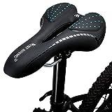 LuTuo Fahrradsattel, bequemes Gel-gepolstertes Sitzkissen für Mountainbike, Rennrad, Damen-, Herren- und Kinderfahrräder