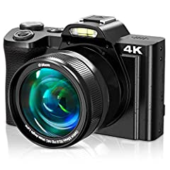 "【4K 48MP Digital Camera with Touch Screen】Our digital camera is crystal and clear in image shooting and video. It records video up to 4K FHD 24 fps resolution. It can shoots picture at 48.0 megapixels. The 3.5"" IPS touch screen allows for higher-defi..."