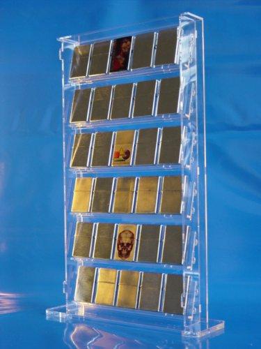 Standvitrine aus Acrylglas für 30 Zippo-Feuerzeuge
