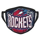Houston Rockets Masc - Pañuelos reutilizables para la cara para adultos con estampado lindo para la cara para hombres y mujeres, lavable, transpirable, ajustable, protección de la boca