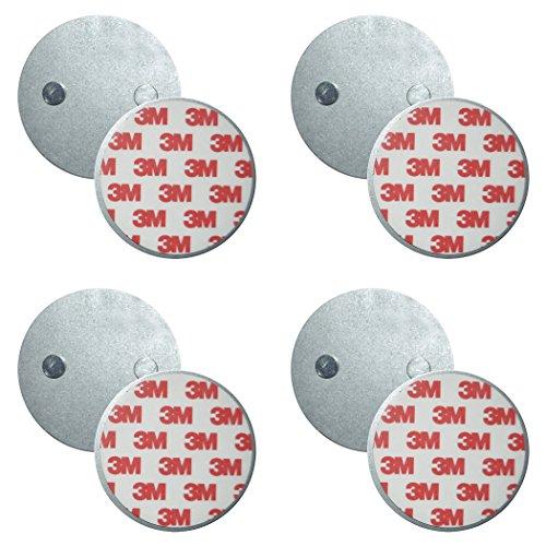 SEBSON Magnethalterung, Magnetpads, Magnetbefestigung für Rauchmelder, selbstklebend, 4er Pack