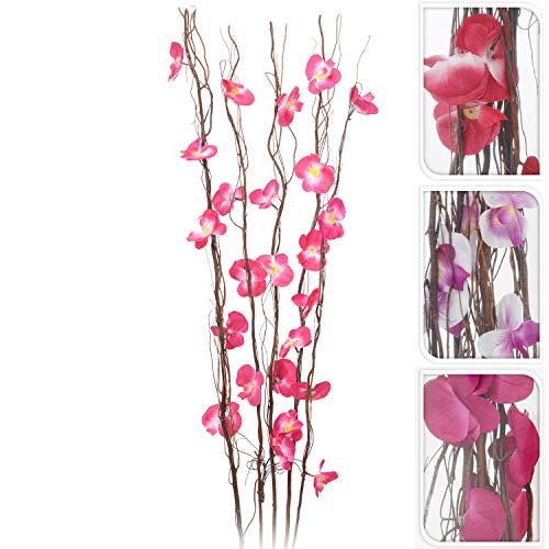 Orchideenzweige mit Beleuchtung 25 LED H110cm, in 3 Modellen erhältlich, Lichterzweige Weidenzweige Lichterdeko Stimmungslicht Stimmungsleuchte