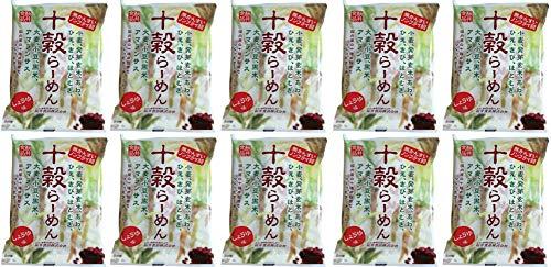 無添加ラーメン 十穀らーめん ( しょうゆ味 )88g×10個 ★ 宅配便 ★ 国内産の十種類の穀物(小麦粉・黒米粉・小豆粉・発芽玄米粉・大麦粉・もちきび粉・もちあわ粉・うるちひえ粉・アマランサス粉・はと麦粉)を使用したノンフライラーメンです。
