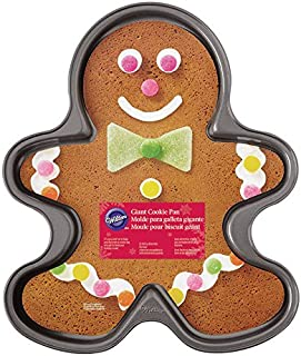Wilton 2105-059 Nonstick Giant Gingerbread Boy Cookie Pan