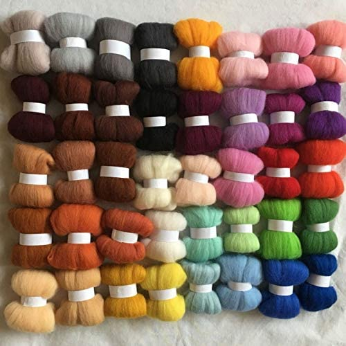 Direct stock discount Xuccus WFPFBEC 40colors Wool for Felting 10g col 50g Opening large release sale 20g 5g 100g