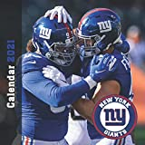 New York Giants Calendar 2021: 12 Month Calendar With Many Colorful Photos. Size 8.5 x 8.5 Inches.
