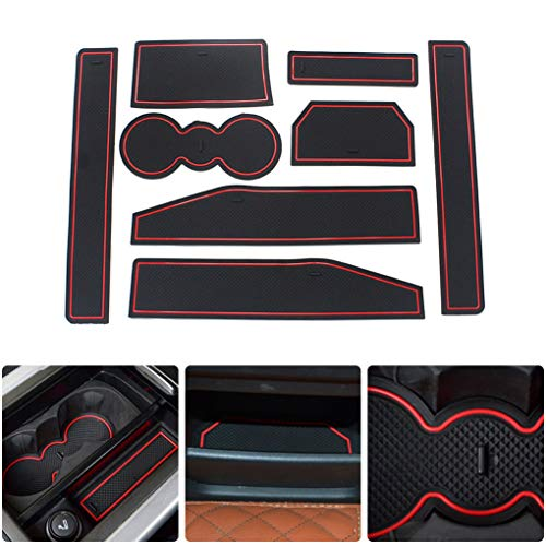 linfei Gate Slot Pad For Mitsubishi Eclipse Cross Automotive Cup Holders Interior Non-Slip Mats