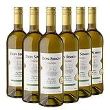 DON SIMON Vino Blanco Verdejo - 6 Botellas de 1L Cristal Ecológico