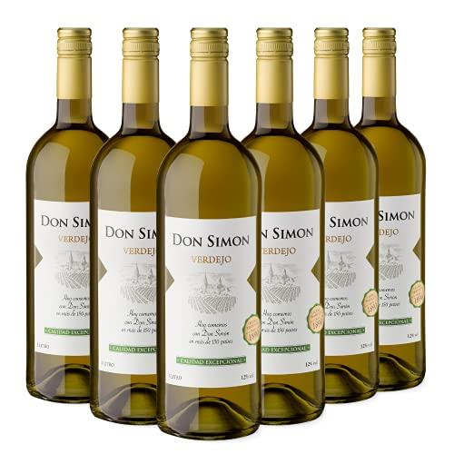 Don Simon Vino Blanco Verdejo - 6 Botellas de 1L Cristal