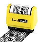 ExcelMark Rolling Identity Theft Guard Stamp (ID Theft Roller Stamp)