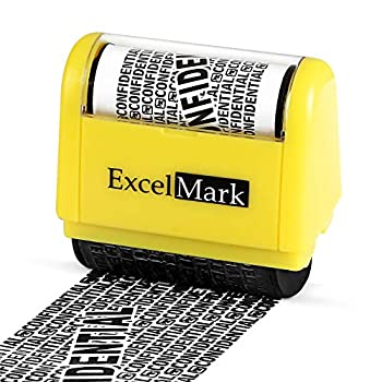 ExcelMark Rolling Identity Theft Guard Stamp  ID Theft Roller Stamp