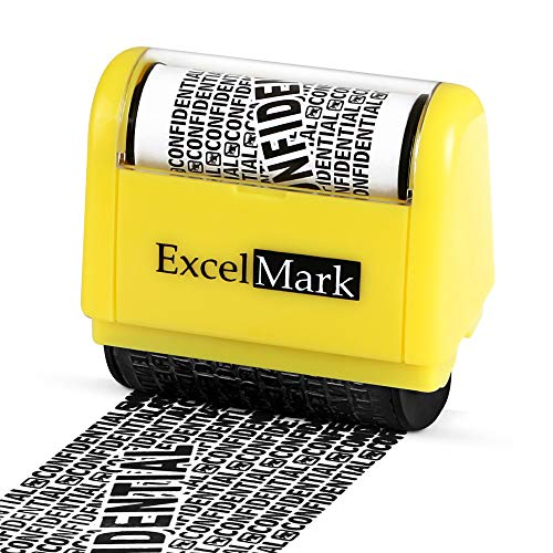 ExcelMark Wide Rolling Identity Theft Guard Stamp - Secure Identity...