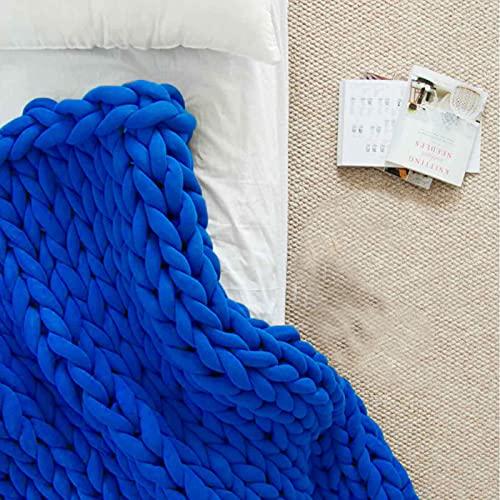 Daoyuan Decke Klobig Gestrickte Decke Sofa Mit Handgewebten Dicken Faden Tagesdecke Decke Luxuriöse Heimdekoration Chenille Garn Geschenk Haustier Bett Yogamatte