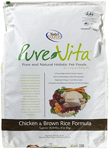 Tuffy'S Pet Food 131630 Tuffy Pure Vita Chicken And Brown Rice Dry Food For Dogs, 25-Pound