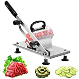 aingycy Frozen Meat Slicer Hand Slicing Machine Stainless Steel Frozen...
