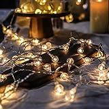 BANCELI Cadena luminosa solar – 30 LED 6,5 m, luces decorativas...