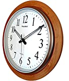 LYONIC President Quartz Official Designer Big Size Plastic Wall Clock for Home,Office(42 X 42 cm Color-Wood) Made in India