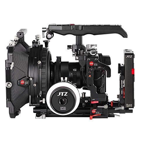 JTZ DP30 Kamerakäfig Grundplatte + Elektronik Top Griff + 4x4 Matte Box + Follow Focus + C5 LE CCUPS V Mount Rig für Sony A7III A7RIII A7SIII A9