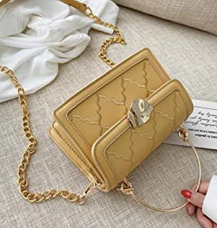 Kogu Hot Woman Elegant Flap Women Solid Crossbody Shoulder Bags Leather Rectangle Small Handbags With Chain Shoulder Satch...