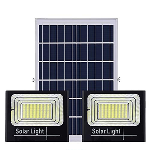 Solar Powered Floodlights Solar Flood Lights LED Lights Solar Powered Floodlights Super Bright High Power One for Two Solar Security Lights Outdoor for Shed,Barn,Sign,Billboard Lighting,Garden