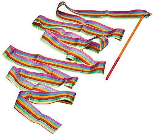Moses. 38075 Kunterbuntes Schwungband │ Gymnastikband zum Schwingen, Tanzen und Spielen | Tanzband mit Holzstab für Kinder