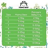 Mama Bear Ultratrockene Windeln Größe 4+ (9-15 kg) – mit Luftkanälen- 172 Windeln (2 Packungen à 86 Windeln) - 6
