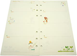 A6 Planner Inserts Weekly Plan, Spiral Notebook Refill A6 Refill,Harphia (A6, Weekly Plan) 6.74''x3.73''