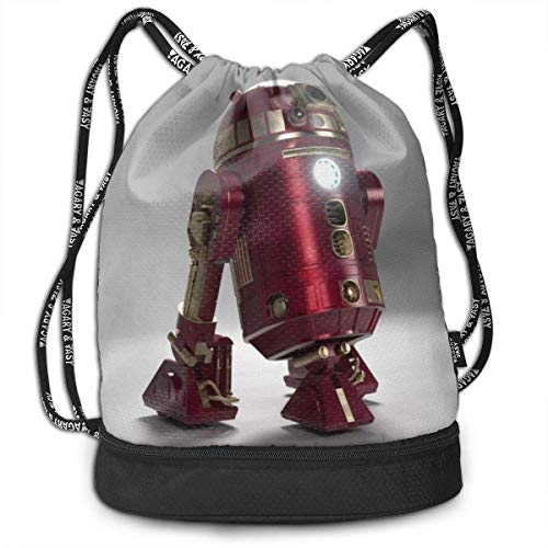R2 D2 Bundle Drawstring Backpack for Gym Mens and Womens Traveling Backpacks