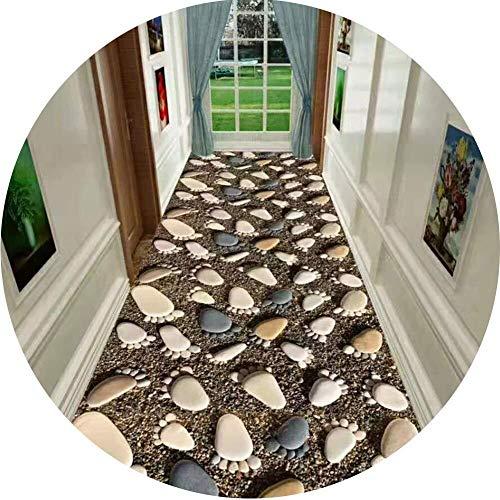 Deurmat voor entree, antislip, smalle Vestibule-tapijt, ideaal voor hallen, keuken, lengte personaliseerbaar 80 * 100cm