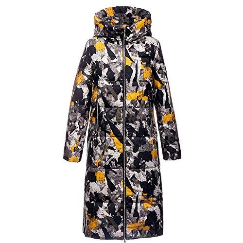 RTYUI Damska kurtka puchowa - wodoodporna elegancka kurtka super ciepła, damska odporna na plamy zimowy długi pikowany płaszcz