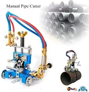 Manual Pipe Cutting Beveling Machine Pipe Gas Cutting Machine Torch Track Chain Cutter Beveler Torch Track Gas Cutter Beveler Cutting 5-50mm Thickness Tube Pipe Cutter Tool (US STOCK)