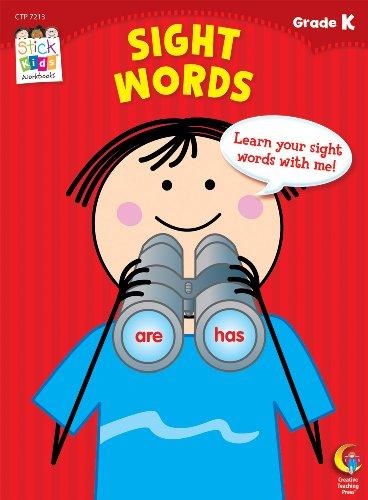 Sight Words Stick Kids Workbook, Grade K (Stick Kids Workbooks)