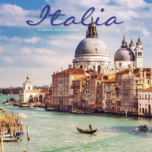 "Graphique Italia Mini Wall Calendar, 16-Month 2020 Wall Calendar with Historic Italian Landmark Photographs, 3 Languages & Major Holidays, 2020 Calendar, 7"" x 7"""
