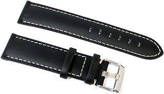 Premium Silicone Orologi Bracciale 20-22-24mm Carbon Look Bianco Con Cuciture Bianche Bracciale Cinturini per orologi