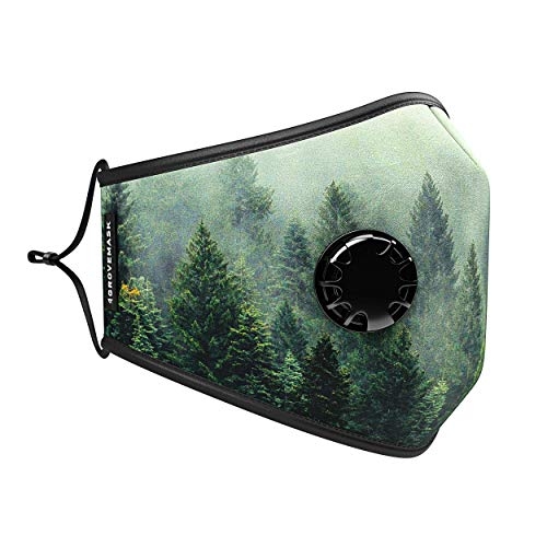 Grove Original Face Mask w/ 7X PM2.5 Filters – Reusable Cloth Face Mask for Pollen, Smoke, Dust, Allergens, One Size
