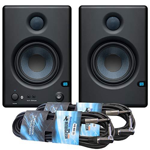 Presonus Eris E4.5 BT Studio-Aktivmonitor Boxen mit Bluetooth + 2x keepdrum Klinkenkabel 6m