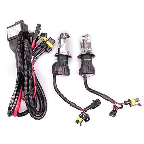 3000K Bulb*2 2 St/ück 55 W H4 HID Bi-Xenon HI//Low Headlight Bulbs Conversion Kit 3000/-/12000/K