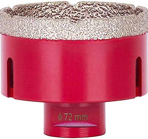 Diamond core bit 72 mm for tiles/porcelain stoneware, premium drill bits for angle grinder flex M14, temperature-resistant diamond, ceramic/granite/stone tiles, dense diamond layer