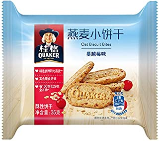 ???Quaker?????????? ???? ???? ???? 105g?35?*3??????? Quaker oat biscuits, cranberry-flavored snacks, cereal, breakfast meal substitution 105g (35 g * 3 packaged independently)