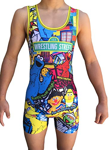 Wrestling Street Singlet- Folkstyle boys and mens (Youth M: 40lbs-55lbs)