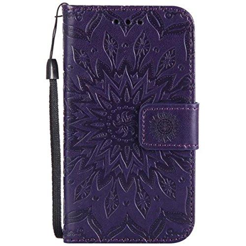 HUANGTAOLI Custodia in Pelle Portafoglio Flip Case Cover per Samsung Galaxy Core Prime 4G VE SM-G361F(SM-G361,SM-G361F)