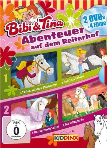 DVD Doppelbox Bibi und Tina Ferien auf dem Martinshof/ Sabrinas Fohlen/ Die Wildpferde/ Der verhexte Sattel