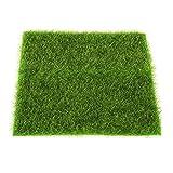 Leikance - Alfombra de césped artificial para jardín, bonsái, casa, acuario, césped artificial