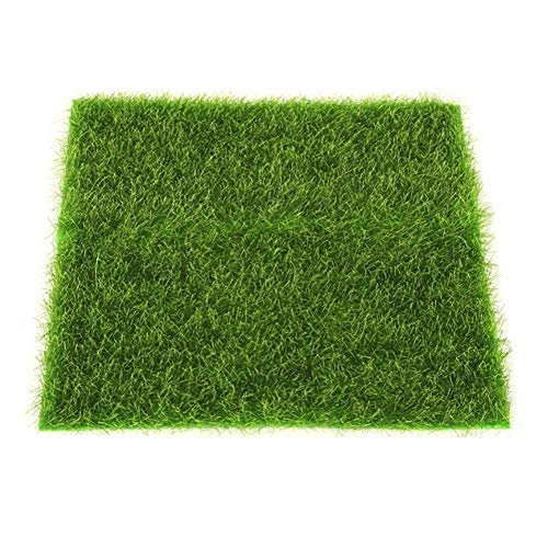 Knowooh Herbe Artificielle Tapis d'herbe Artificielle Tapis de pelouse en Plein air Faux Herbe Tapis de Bricolage décoration pour Le Jardin Bonsai Home Aquarium