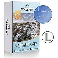 Focuspet Red de Proteccióno para Gatos, 3 X 8M Red de Seguridad Animales para Balcones y Ventana Red de Grilla de Protección Transparente Se Puede Cortar