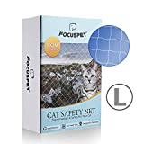 Focuspet Filet de Protection pour Chat, Filet de Protection Transparent Filet de Sécurité pour Chat Filet de Protection Fenêtre pour Chat pour Balcon & Fenêtres