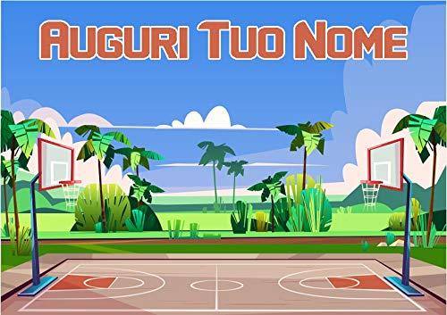 Partycolare Cialda per Torta Campo Pallacanestro Basket Street - da Personalizzare - campo31